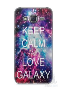 Capa Capinha Samsung J5 Keep Calm and Love Galaxy