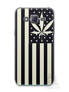 Capa Capinha Samsung J5 Maconha Bandeira EUA