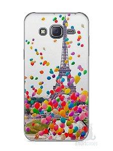 Capa Capinha Samsung J5 Torre Eiffel e Balões