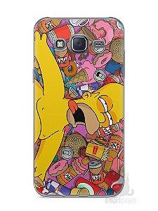 Capa Capinha Samsung J5 Homer Simpson Bêbado