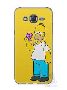 Capa Capinha Samsung J5 Homer Simpson Comendo Donut