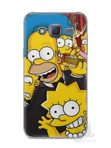 Capa Capinha Samsung J5 Família Simpsons #2