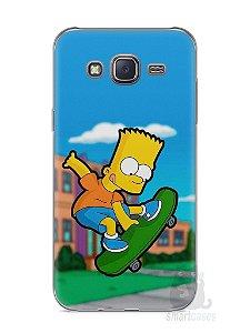 Capa Capinha Samsung J5 Bart Simpson Skate