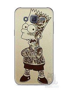 Capa Capinha Samsung J5 Bart Simpson Tatuado