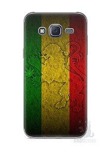 Capa Capinha Samsung J5 Rasta Weed #1