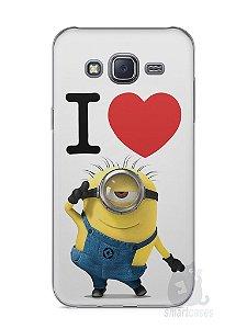 Capa Capinha Samsung J5 I Love Minions