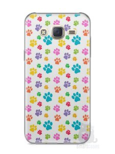 Capa Capinha Samsung J7 Patinhas Coloridas #1