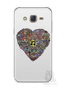Capa Capinha Samsung J7 Coração Personagens