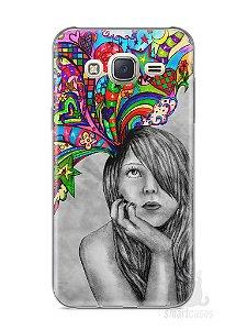 Capa Capinha Samsung J7 Menina Sonhadora
