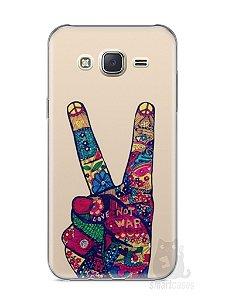 Capa Capinha Samsung J7 Paz e Amor