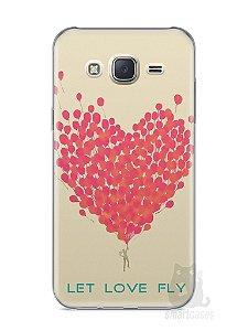 Capa Capinha Samsung J7 Deixe o Amor Voar