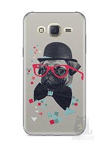 Capa Capinha Samsung J7 Cachorro Pug Estiloso #1
