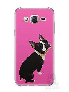 Capa Capinha Samsung J7 Cachorro Boston Terrier