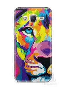 Capa Capinha Samsung J7 Leão Colorido #1