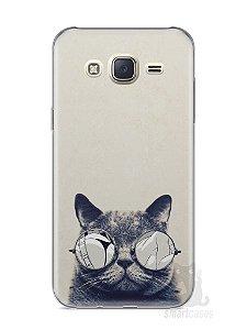 Capa Capinha Samsung J7 Gato Com Óculos