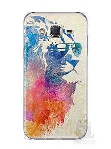 Capa Capinha Samsung J7 Leão Colorido #2