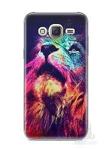 Capa Capinha Samsung J7 Leão Colorido #3