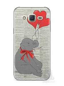 Capa Capinha Samsung J7 Elefante e Corações