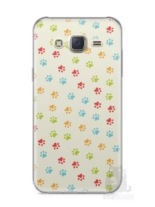 Capa Capinha Samsung J7 Patinhas Coloridas #2