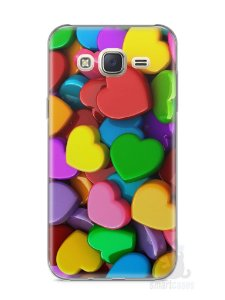 Capa Capinha Samsung J7 Corações