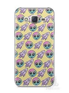 Capa Capinha Samsung J7 Aliens e Foguetes