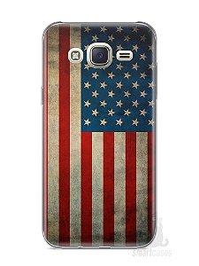 Capa Capinha Samsung J7 Bandeira EUA