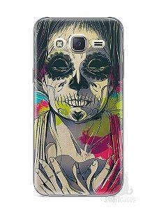 Capa Capinha Samsung J7 Caveira Pintura
