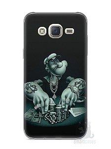Capa Capinha Samsung J7 Popeye Jogando Poker