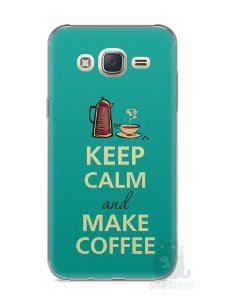 Capa Capinha Samsung J7 Keep Calm and Make Coffee