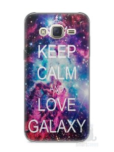 Capa Capinha Samsung J7 Keep Calm and Love Galaxy