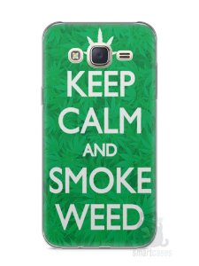 Capa Capinha Samsung J7 Keep Calm and Smoke Weed