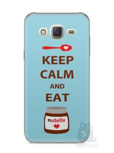 Capa Capinha Samsung J7 Keep Calm and Eat Nutella