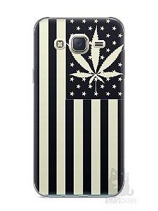 Capa Capinha Samsung J7 Maconha Bandeira EUA