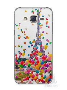 Capa Capinha Samsung J7 Torre Eiffel e Balões