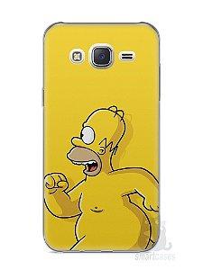 Capa Capinha Samsung J7 Homer Simpson Correndo Pelado