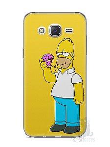 Capa Capinha Samsung J7 Homer Simpson Comendo Donut