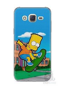 Capa Capinha Samsung J7 Bart Simpson Skate