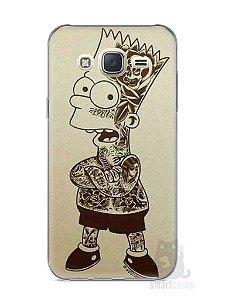 Capa Capinha Samsung J7 Bart Simpson Tatuado