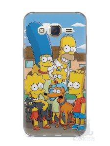 Capa Capinha Samsung J7 Família Simpsons #1