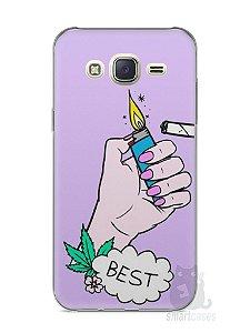 Capa Capinha Samsung J7 Melhores Amigos Fumando