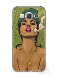 Capa Capinha Samsung J7 Girl Smoking Weed