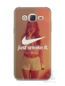 Capa Capinha Samsung J7 Just Smoke It