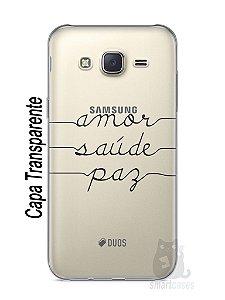 Capa Capinha Samsung J7 Amor Saúde Paz