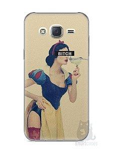 Capa Capinha Samsung J7 Branca de Neve Bitch