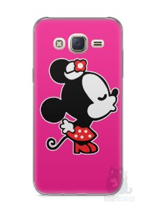 Capa Capinha Samsung J7 Mickey e Minnie Beijo