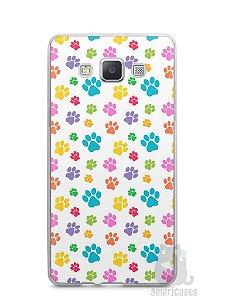 Capa Capinha Samsung A7 2015 Patinhas Coloridas #1