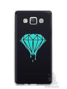 Capa Capinha Samsung A7 2015 Diamante Azul