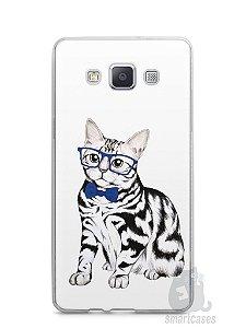 Capa Capinha Samsung A7 2015 Gato Estiloso