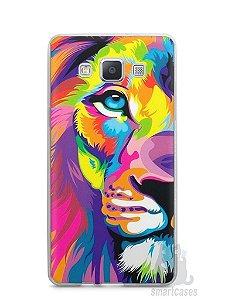 Capa Capinha Samsung A7 2015 Leão Colorido #1