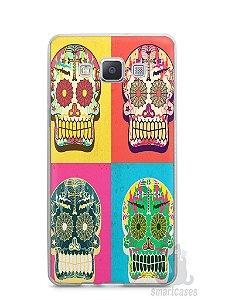 Capa Capinha Samsung A7 2015 Caveiras Coloridas